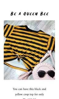 Crop top (Black and yellow)