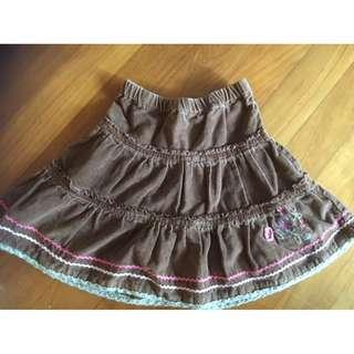 Brown corduroy skirt for 1 year old