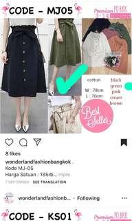 Green Army Skirt Ready