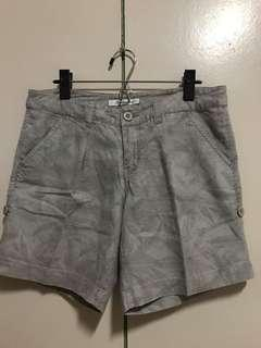 Gray shorts with floral print