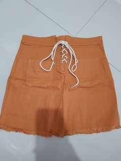 Rok mini coklat korean