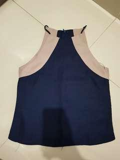 Two Tone Top (Navy blue + Cream)