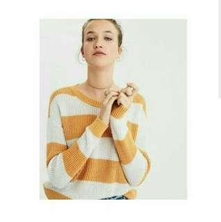 🎆Big Stripe Sweater Mustard