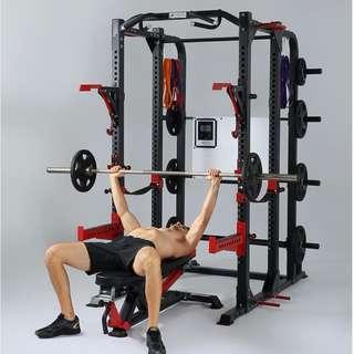 MASSFIT 商用 史密斯訓練機 深蹲架 CROSSFIT 健身 舉重架 框式 龍門架 槓鈴架 臥推架 3MM thickness 181006