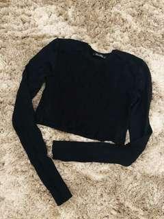 Zara crop knitted top