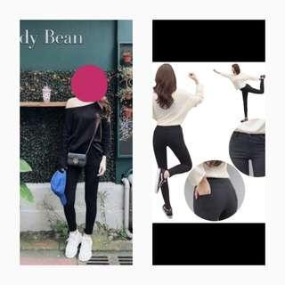 韓 / 每個女孩都應該擁有的彈性顯瘦黑褲