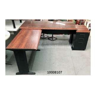 【弘旺二手家具生活館】中古/二手 L型木紋辦公桌含活動櫃 OA桌 辦公椅 活動櫃 -各式新舊/二手家具 生活家電買賣