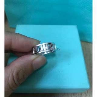 原價$2450 Tiffany ATLAS 鏤空純銀戒指