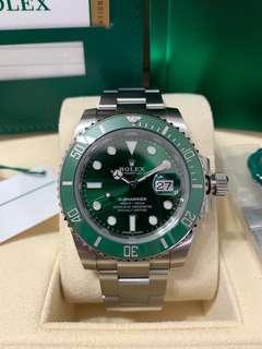 Mint condition Jun 18 Rolex Hulk Submariner 116610LV