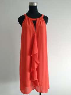 Coral pink summer dress size 10