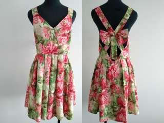 Floral dress with bow size 10