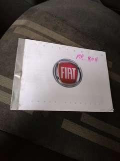 Fiat Fiorino User Manual For Sale