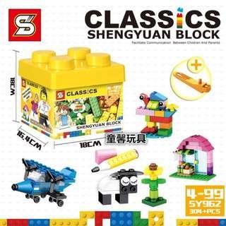 SY™ 962 CLASSICS Random Bricks 304 Pcs