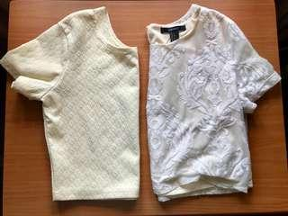 Mossimo & F21 crop tops