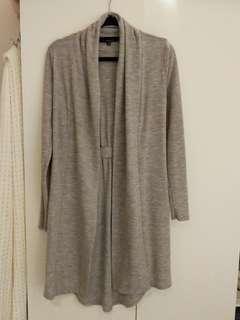 Portmans 100% merino wool long line duster cardigan