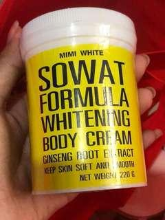 MIMI WHITE Sowat Formula Whitening Body Cream 220g