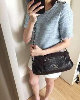 AUTHENTIC CHANEL Caviar Shoulder / Sling / Crossbody Bag