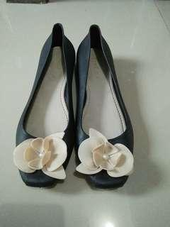 Jelly flat shoes black