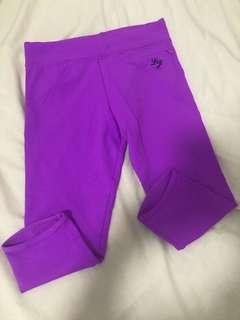 As New Authentic Lorna Jane 3/4 Amy tights - bright purple drawstring super cute classic Amy style size xs