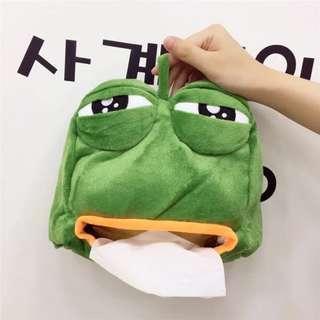 🎁GIFT🎁 Pepe The Frog Animated Big Eyes Tissue Box Holder