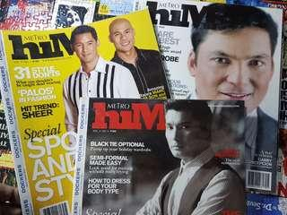 Metro Him Magazine  - Php 100 each