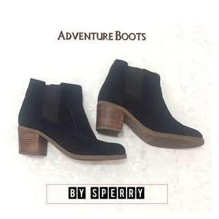 Mid-calf ankle boots for women