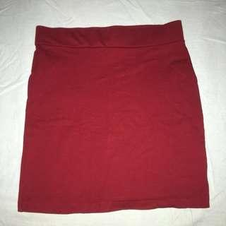 #H&M50 Forever 21 Red Bodycon Skirt