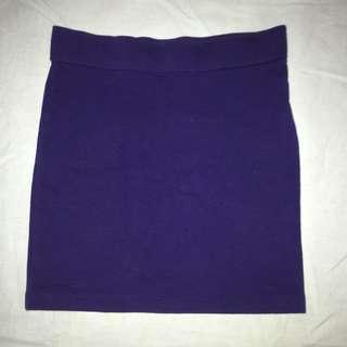 #H&M50 Forever 21 Blue Bodycon Skirt
