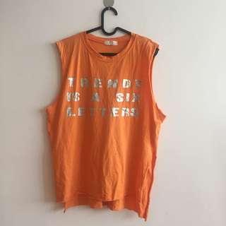 🚚 橘色寬版背心