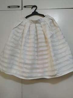 Striped ball skirt