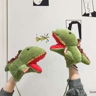 🎁GIFT🎁 Baby Dinosaur Shark Kids Hand Puppet Stuffed Toy