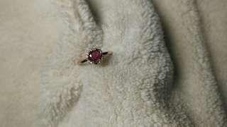 Mogok Unheated Ruby Ring