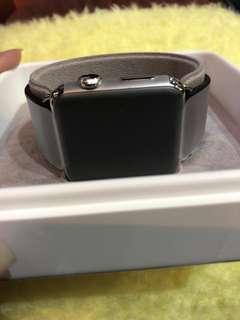Hermes noir calf leather 42mm apple watch