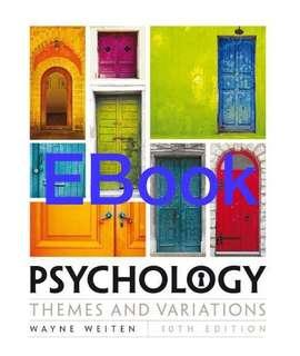 psychology themes and variations 10th edition
