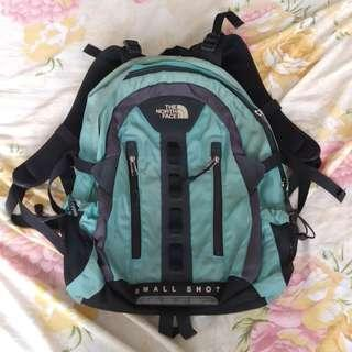 The North Face Small Shot Teal and Black Authentic