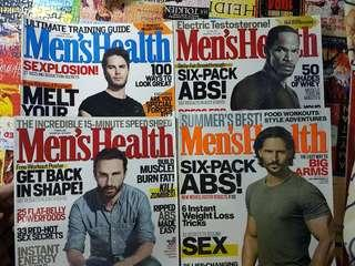 Men's Health USA back issues - Php 50 each