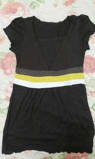 Simple dress dark brown