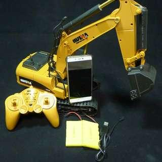 Faulty 2.4ghz 15 Channel wireless RC Excavator with metal bucket 1/12 scale