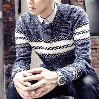 🏘URBAN🏘 Aurum Scottish Stripes Long Sleeve Pullover Top