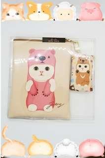 100% New 韓國 正版 Choo Choo MINI BAG 系列 可愛貓貓 🐾🐈🐱 布帶斜孭袋一個 配 匙扣散紙包 一個 可以獨立分拆開