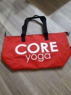 🚚 Core yoga 核心瑜珈運動防水放潑背袋健身袋健身背包側背包手提背包大容量背包