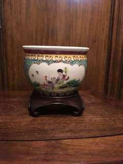 五六十年代「江西名瓷」人物小魚缸