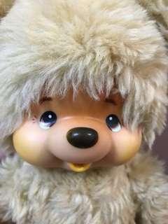 特價 30cm 中古 大助熊 toho monchhichi monchichi made in japan 已絕版 原裝衫 日本製
