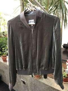 Armani Collezione Grey Bomber Jacket (Size 6 US)