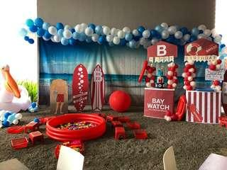 Massive beach back drop party event bunting 2.5 x 6m