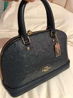 Coach Mini Sierra Midnight Debossed Leather
