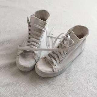 Adidas High-cut White Sneakers