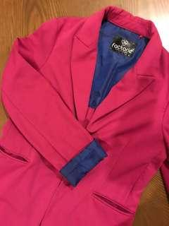 Pink Factorie Blazer with blue lining