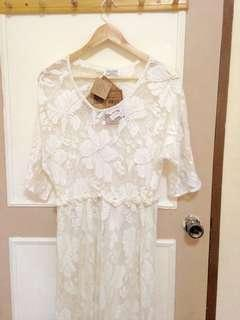 BNew Authentic Indian Cotton Laced Dress