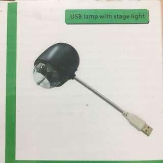 BNIB Usb lamp with stage light